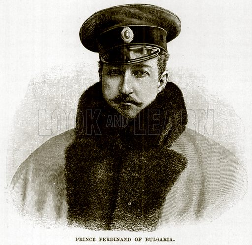 Prince Ferdinand of Bulgaria. Illustration for The Life and Times of The Marquis of Salisbury by S H Jeyes (Virtue, c 1895).