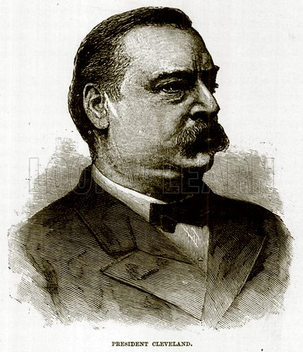 President Cleveland. Illustration for The Life and Times of The Marquis of Salisbury by S H Jeyes (Virtue, c 1895).