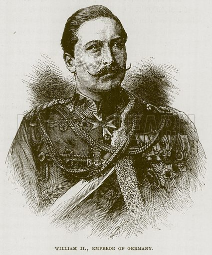 William II, Emperor of Germany. Illustration for The Life and Times of The Marquis of Salisbury by S H Jeyes (Virtue, c 1895).