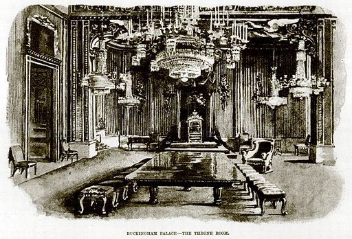 Buckingham Palace--The Throne Room. Illustration for The Life and Times of The Marquis of Salisbury by S H Jeyes (Virtue, c 1895).