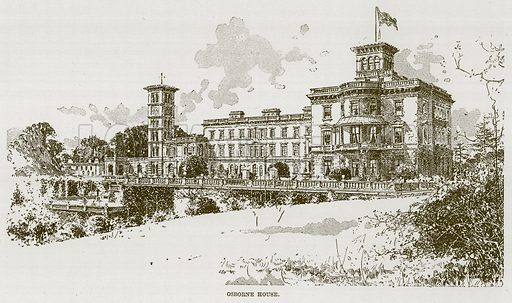 Osborne House. Illustration for The Life and Times of The Marquis of Salisbury by S H Jeyes (Virtue, c 1895).