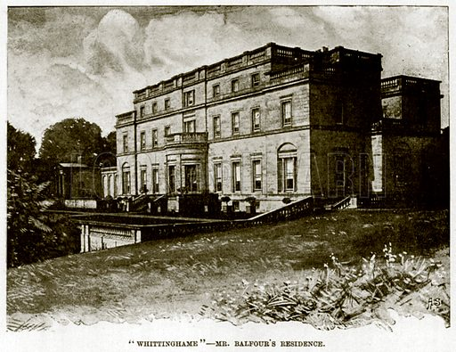 """""""Whittinghame"""" – Mr Balfour's Residence. Illustration for The Life and Times of The Marquis of Salisbury by SH Jeyes (Virtue, c 1895)."""