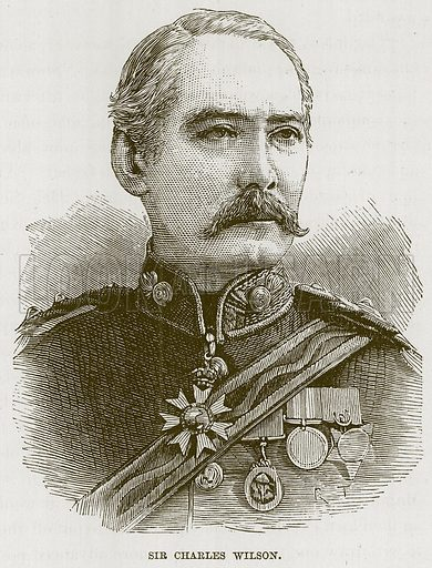 Sir Charles Wilson. Illustration for The Life and Times of The Marquis of Salisbury by S H Jeyes (Virtue, c 1895).