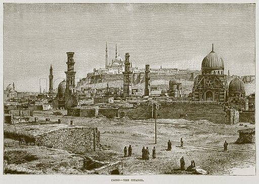 Cairo--The Citadel. Illustration for The Life and Times of The Marquis of Salisbury by S H Jeyes (Virtue, c 1895).