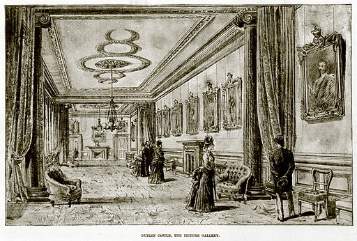 Dublin Castle, the Picture Gallery. Illustration for The Life and Times of The Marquis of Salisbury by S H Jeyes (Virtue, c 1895).