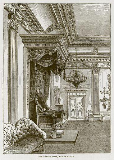 The Throne Roon, Dublin Castle. Illustration for The Life and Times of The Marquis of Salisbury by S H Jeyes (Virtue, c 1895).