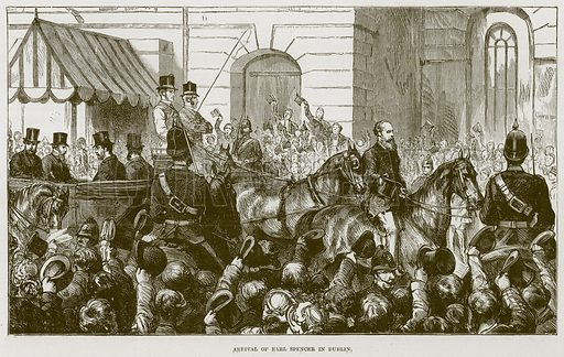 Arrival of Earl Spencer in Dublin. Illustration for The Life and Times of The Marquis of Salisbury by S H Jeyes (Virtue, c 1895).