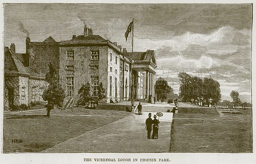 The Viceregal Lodge in Phoenix Park. Illustration for The Life and Times of The Marquis of Salisbury by S H Jeyes (Virtue, c 1895).