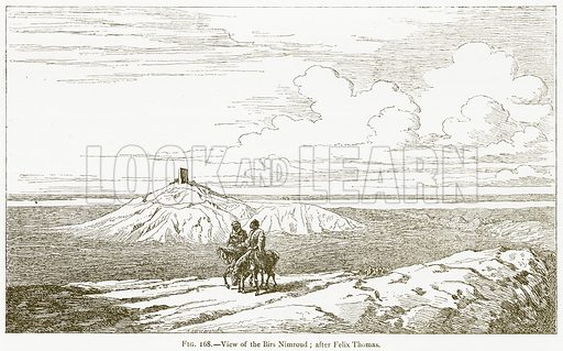 View of the Birs Nimroud; after Felix Thomas. Illustration for A History of Art in Chaldaea and Assyria by Georges Perrot and Charles Chipiez (Chapman and Hall, 1884).