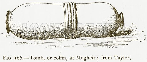 Tomb, or Coffin, at Mugheir; from Taylor. Illustration for A History of Art in Chaldaea and Assyria by Georges Perrot and Charles Chipiez (Chapman and Hall, 1884).