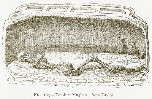 Tomb at Mugheir; from Taylor. Illustration for A History of Art in Chaldaea and Assyria by Georges Perrot and Charles Chipiez (Chapman and Hall, 1884).