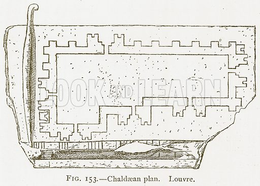 Chaldaean Plan. Louvre. Illustration for A History of Art in Chaldaea and Assyria by Georges Perrot and Charles Chipiez (Chapman and Hall, 1884).