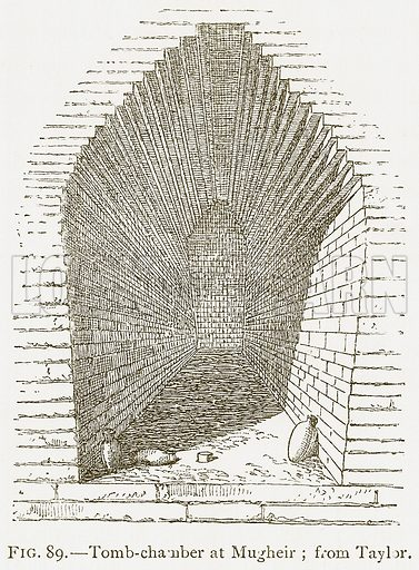 Tomb-Chamber at Mugheir; from Taylor. Illustration for A History of Art in Chaldaea and Assyria by Georges Perrot and Charles Chipiez (Chapman and Hall, 1884).