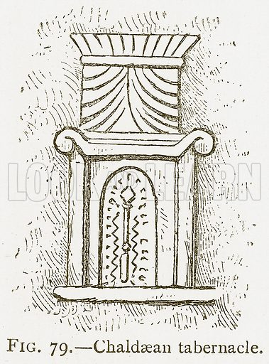 Chaldaean Tabernacle. Illustration for A History of Art in Chaldaea and Assyria by Georges Perrot and Charles Chipiez (Chapman and Hall, 1884).