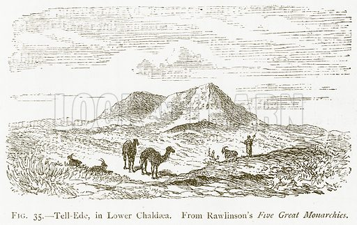 Tell-Ede, in Lower Chaldaea. Illustration for A History of Art in Chaldaea and Assyria by Georges Perrot and Charles Chipiez (Chapman and Hall, 1884).