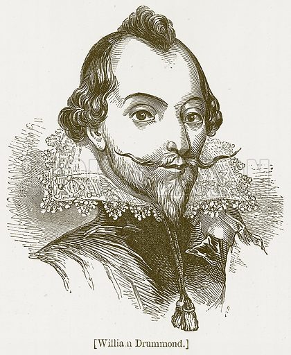 William Drummond. Illustration for William Shakespeare A Biography by Charles Knight (Virtue, c 1880).