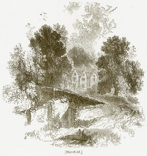Harefield. Illustration for William Shakespeare A Biography by Charles Knight (Virtue, c 1880).
