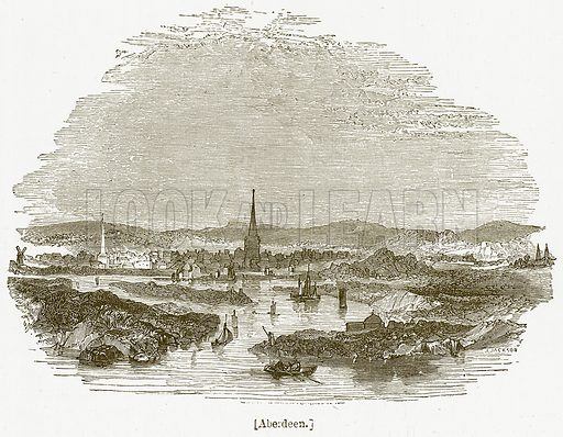 Aberdeen. Illustration for William Shakespeare A Biography by Charles Knight (Virtue, c 1880).