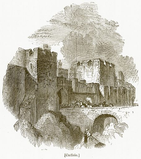 Carlisle. Illustration for William Shakespeare A Biography by Charles Knight (Virtue, c 1880).