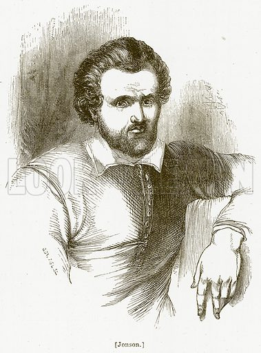 Jonson. Illustration for William Shakespeare A Biography by Charles Knight (Virtue, c 1880).