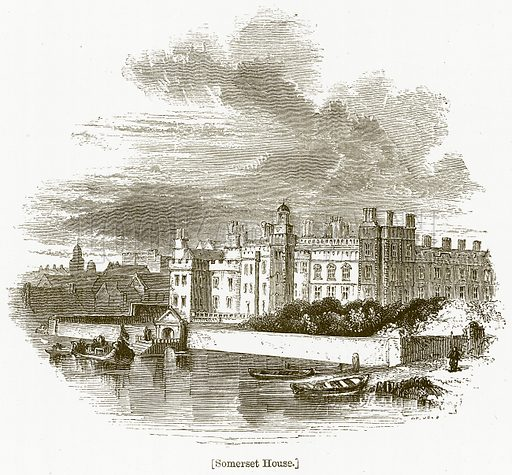 Somerset House. Illustration for William Shakespeare A Biography by Charles Knight (Virtue, c 1880).