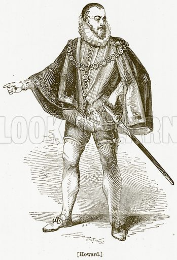 Howard. Illustration for William Shakespeare A Biography by Charles Knight (Virtue, c 1880).
