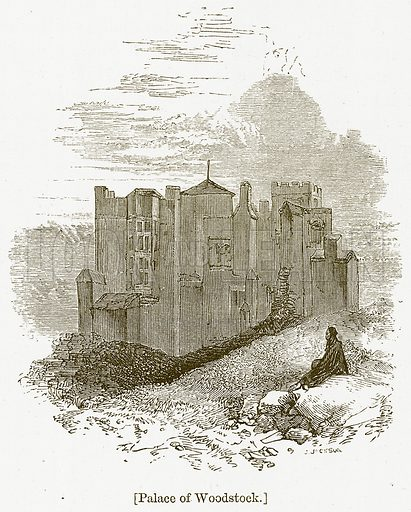 Palace of Woodstock. Illustration for William Shakespeare A Biography by Charles Knight (Virtue, c 1880).