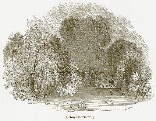 Below Charlcote. Illustration for William Shakespeare A Biography by Charles Knight (Virtue, c 1880).