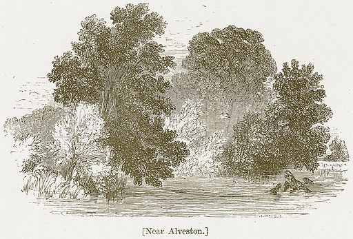 Near Alveston. Illustration for William Shakespeare A Biography by Charles Knight (Virtue, c 1880).