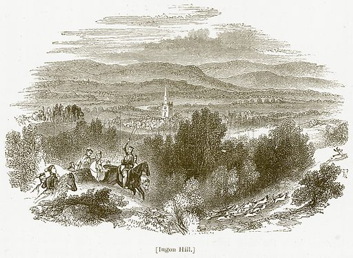 Ingon Hill. Illustration for William Shakespeare A Biography by Charles Knight (Virtue, c 1880).