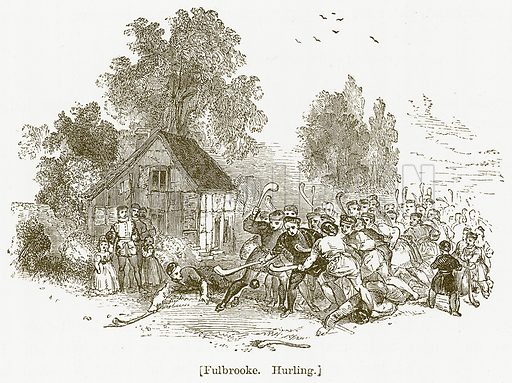 Fulbrooke. Hurling. Illustration for William Shakespeare A Biography by Charles Knight (Virtue, c 1880).