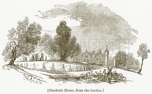 Charlcote House, from the Garden. Illustration for William Shakespeare A Biography by Charles Knight (Virtue, c 1880).