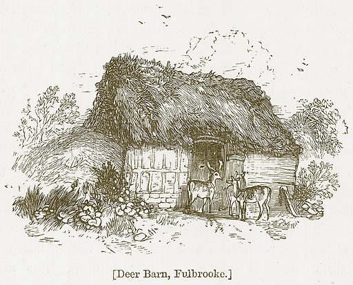 Deer Barn, Fulbrooke. Illustration for William Shakespeare A Biography by Charles Knight (Virtue, c 1880).