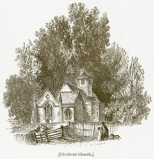 Charlcote Church. Illustration for William Shakespeare A Biography by Charles Knight (Virtue, c 1880).