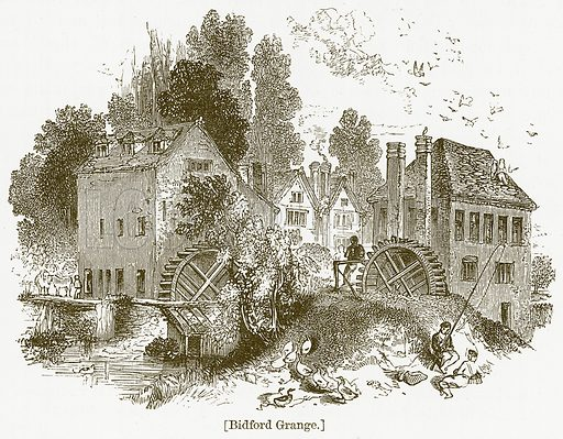 Bidford Grange. Illustration for William Shakespeare A Biography by Charles Knight (Virtue, c 1880).