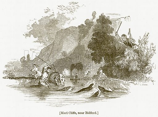 Marl Cliffs, near Bidford. Illustration for William Shakespeare A Biography by Charles Knight (Virtue, c 1880).