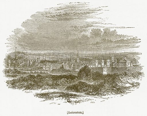 Leicester. Illustration for William Shakespeare A Biography by Charles Knight (Virtue, c 1880).