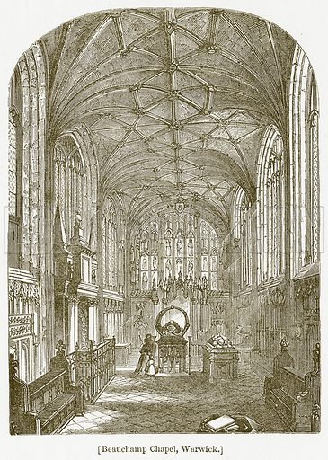 Beauchamp Chapel, Warwick. Illustration for William Shakespeare A Biography by Charles Knight (Virtue, c 1880).
