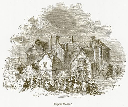 Clopton House. Illustration for William Shakespeare A Biography by Charles Knight (Virtue, c 1880).