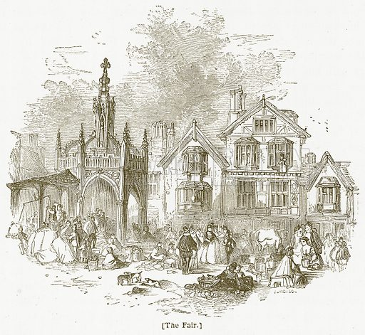 The Fair. Illustration for William Shakespeare A Biography by Charles Knight (Virtue, c 1880).