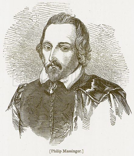 Philip Massinger. Illustration for William Shakespeare A Biography by Charles Knight (Virtue, c 1880).