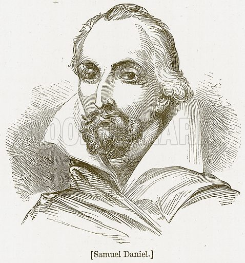Samuel Daniel. Illustration for William Shakespeare A Biography by Charles Knight (Virtue, c 1880).