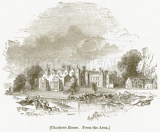 Charlcote House. Illustration for William Shakespeare A Biography by Charles Knight (Virtue, c 1880).