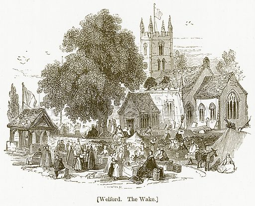 Welford. The Wake. Illustration for William Shakespeare A Biography by Charles Knight (Virtue, c 1880).