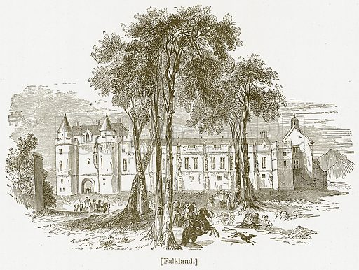 Falkland. Illustration for William Shakespeare A Biography by Charles Knight (Virtue, c 1880).