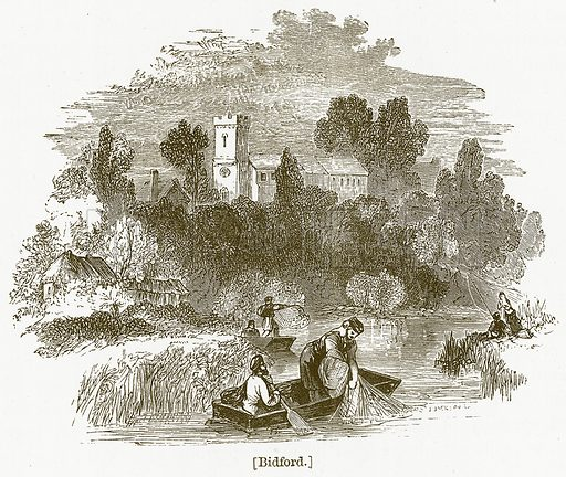 Bidford. Illustration for William Shakespeare A Biography by Charles Knight (Virtue, c 1880).