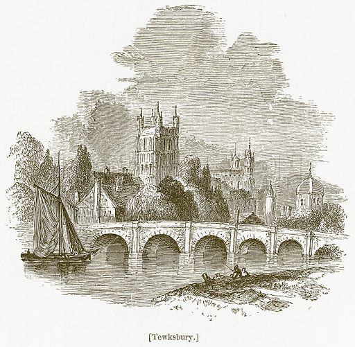 Tewksbury. Illustration for William Shakespeare A Biography by Charles Knight (Virtue, c 1880).