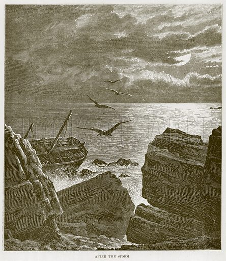 After the Storm. Illustration for The Sea by F Whymper (Cassell, c 1890).