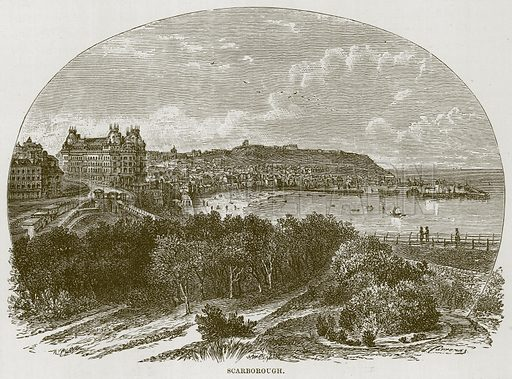 Scarborough. Illustration for The Sea by F Whymper (Cassell, c 1890).