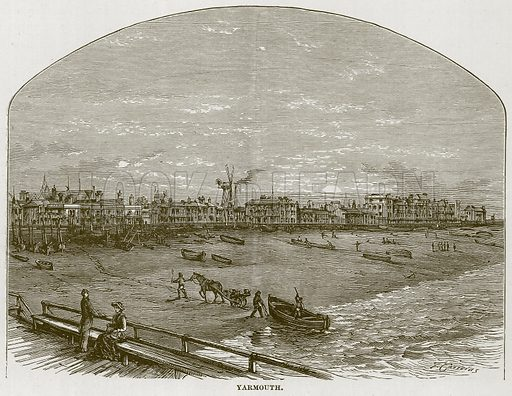 Yarmouth. Illustration for The Sea by F Whymper (Cassell, c 1890).